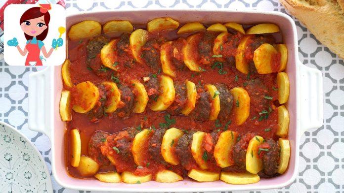 Fırında Patates Köfte Yemeği
